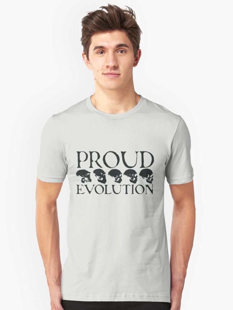 Proud Evolution Skull Unisex T-Shirt Front