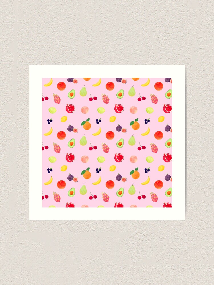 Alternate view of Pink Fruits Art Print