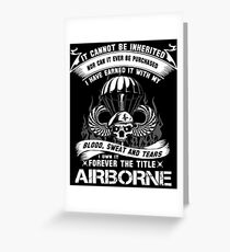 airborne infantry mom airborne jump wings airborne badge airborne brot Greeting Card