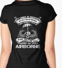 airborne infantry mom airborne jump wings airborne badge airborne brot Women's Fitted Scoop T-Shirt