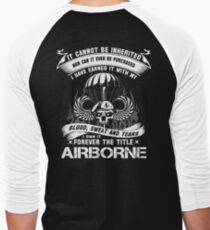 airborne infantry mom airborne jump wings airborne badge airborne brot Men's Baseball ¾ T-Shirt