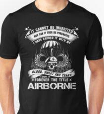 Camiseta ajustada infantería en el aire mamá alas de salto en el aire insignia en el aire aerotransportado brot