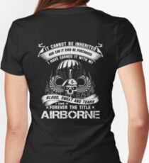 airborne infantry mom airborne jump wings airborne badge airborne brot Womens Fitted T-Shirt