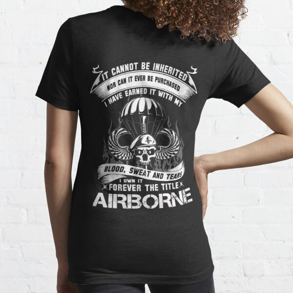 airborne infantry mom airborne jump wings airborne badge airborne brot Essential T-Shirt