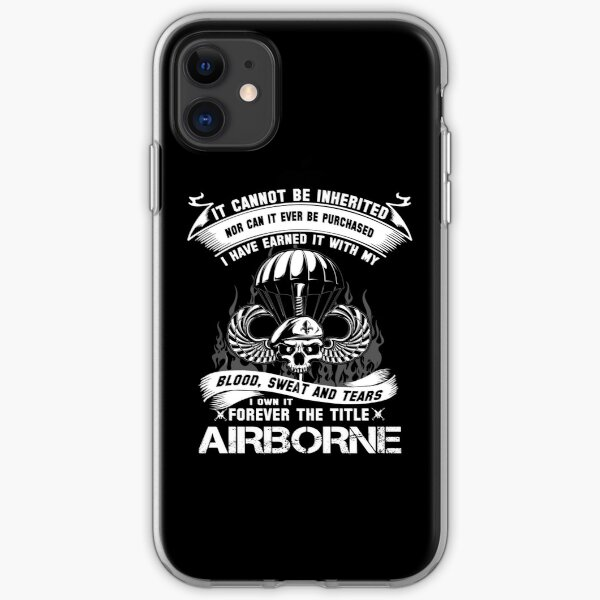 airborne infantry mom airborne jump wings airborne badge airborne brot iPhone Soft Case