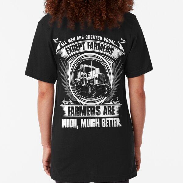 stupid farmer Bird farmer mom piglet farmer farmer wave farmer kids fa Slim Fit T-Shirt
