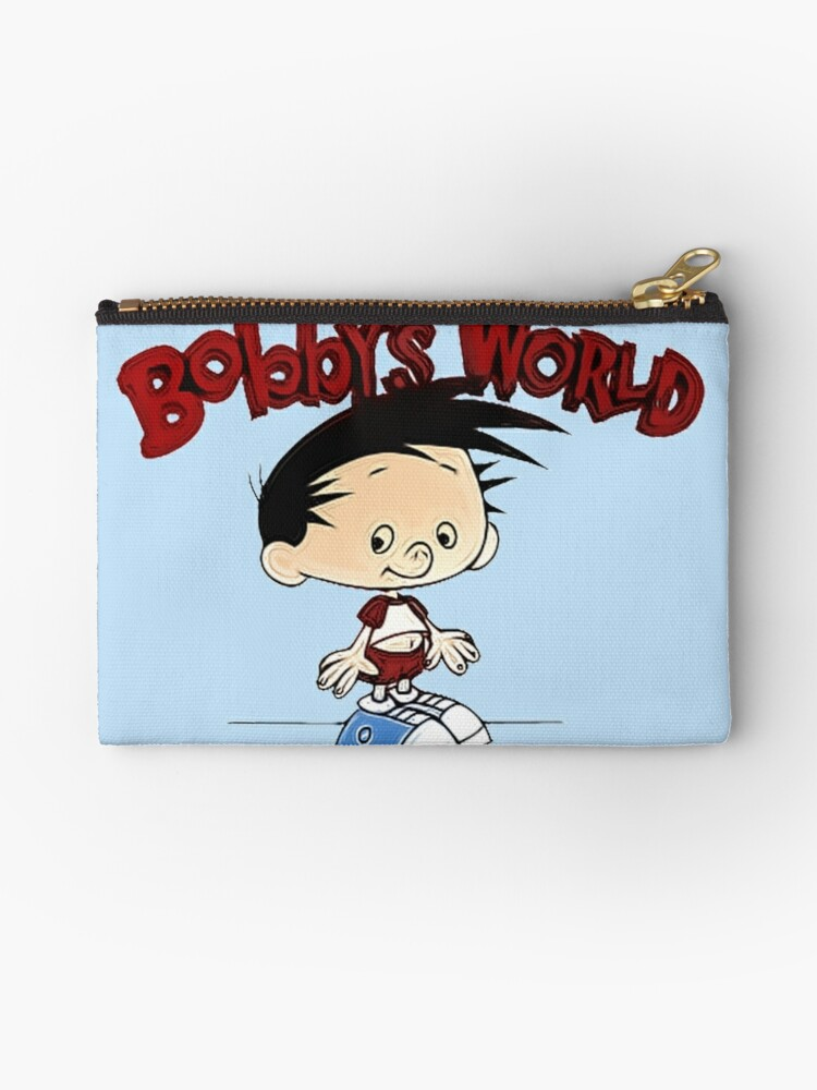 bobbys world cartoon studio pouches by lpsdesign redbubble