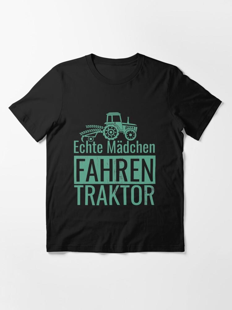 Alternative Ansicht von Echte Mädchen Fahren Traktor Essential T-Shirt