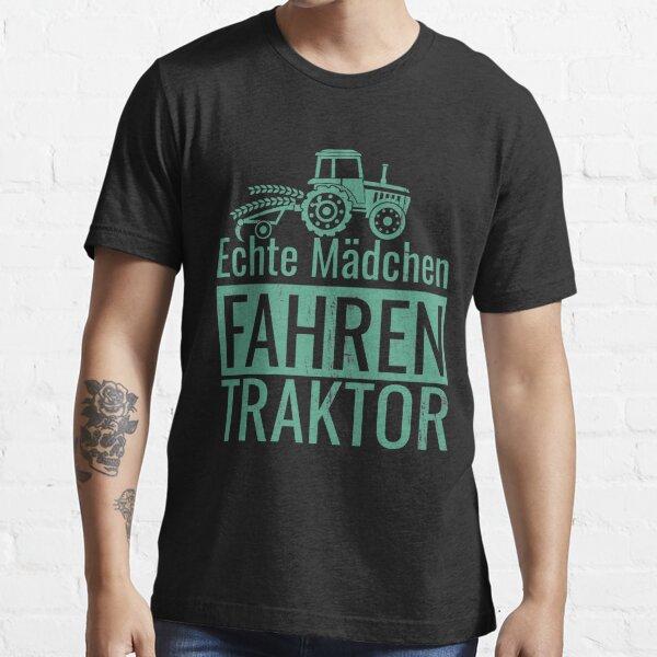 Echte Mädchen Fahren Traktor Essential T-Shirt