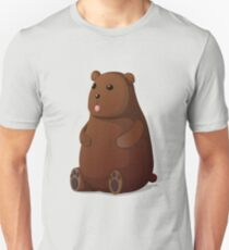 Cute Goofy Stuffed Teddy Brown Bear T-Shirt