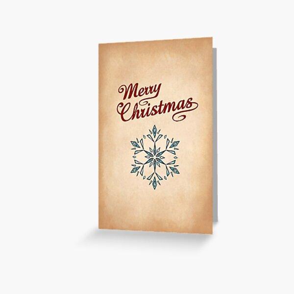 Snowflake 3 Greeting Greeting Card