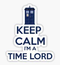 Keep Calm I'm A Time Lord Sticker
