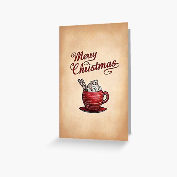 Hot Chocolate Greeting Greeting Card