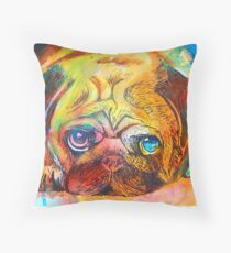 Mr Pug Pop Art  Throw Pillow