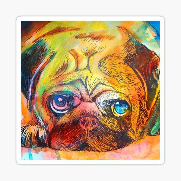 Mr Pug Pop Art  Sticker