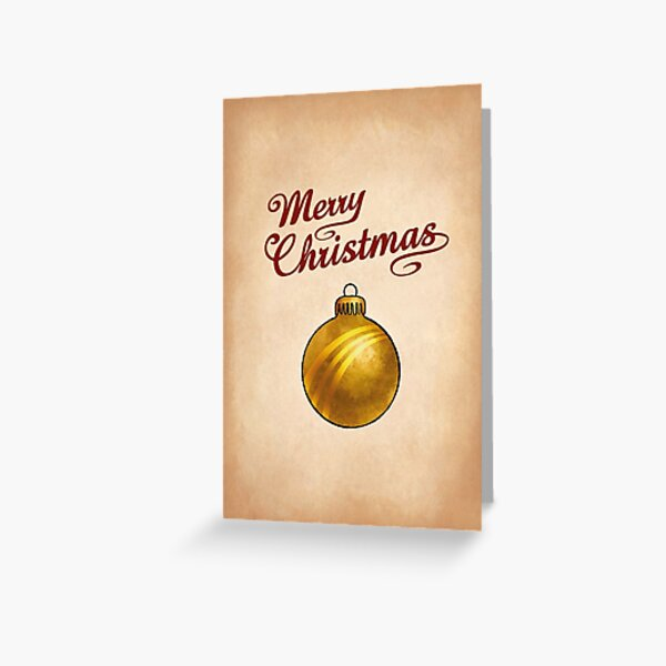 Christmas Bauble Gold Greeting Greeting Card
