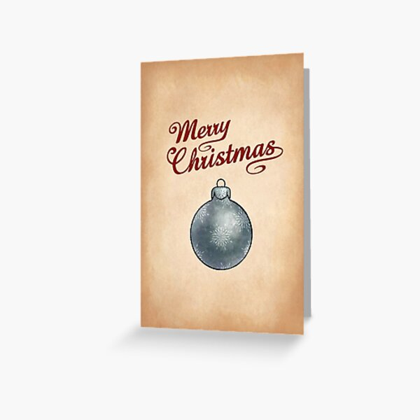 Christmas Bauble Silver Greeting Greeting Card