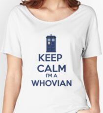 Keep Calm i'm a whovian Women's Relaxed Fit T-Shirt
