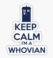 Keep Calm i'm a whovian Sticker