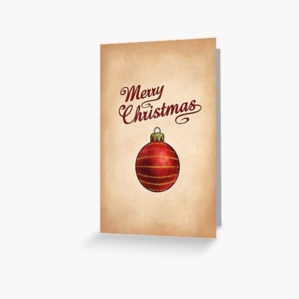 Christmas Bauble Red Greeting Greeting Card