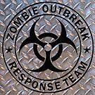 Zombie Outbreak Response Team on Diamond Plate by thatstickerguy