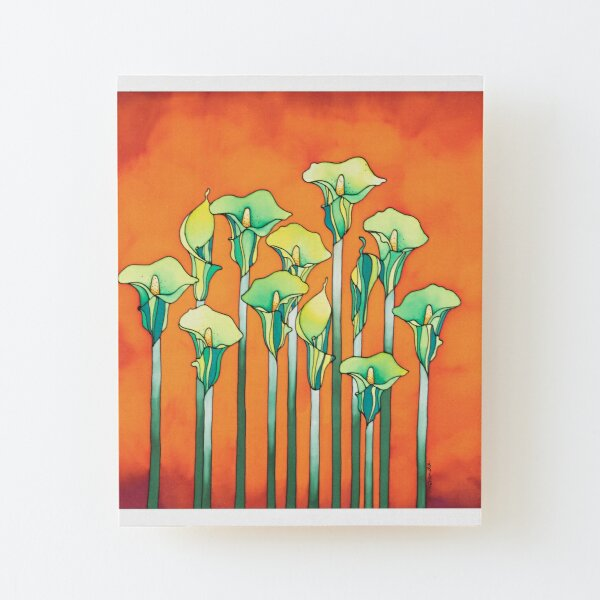 A bouquet of Lilies for you! Wood Mounted Print