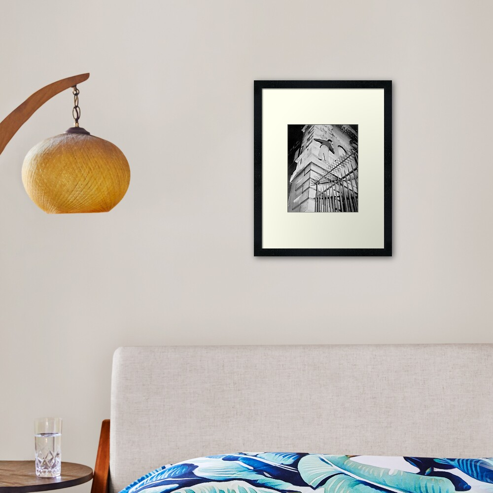 On the Old Library – up to the Saintless Niche. Framed Art Print
