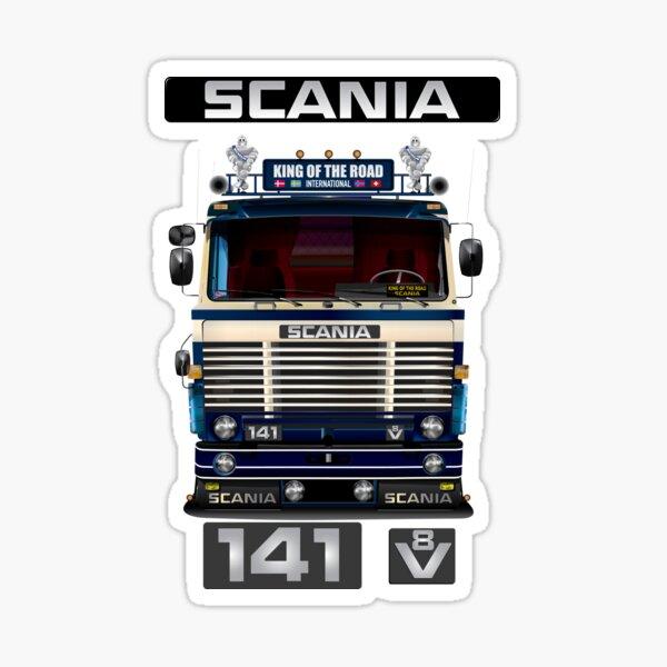 Scania 141 clásico de los 70's 80's creado digitalmente con todo lujo de detalles Pegatina