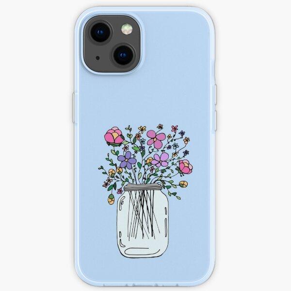 Mason Jar with Flowers iPhone Soft Case