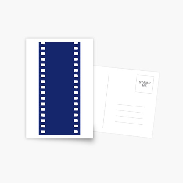 UNEXPOSED (35mm film reel graphic derived from original minimalist oil painting) Postcard