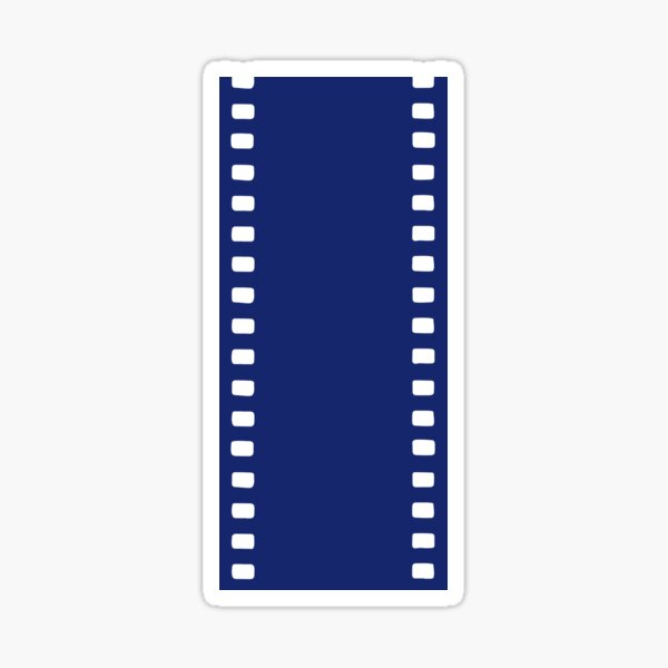UNEXPOSED (35mm film reel graphic derived from original minimalist oil painting) Sticker