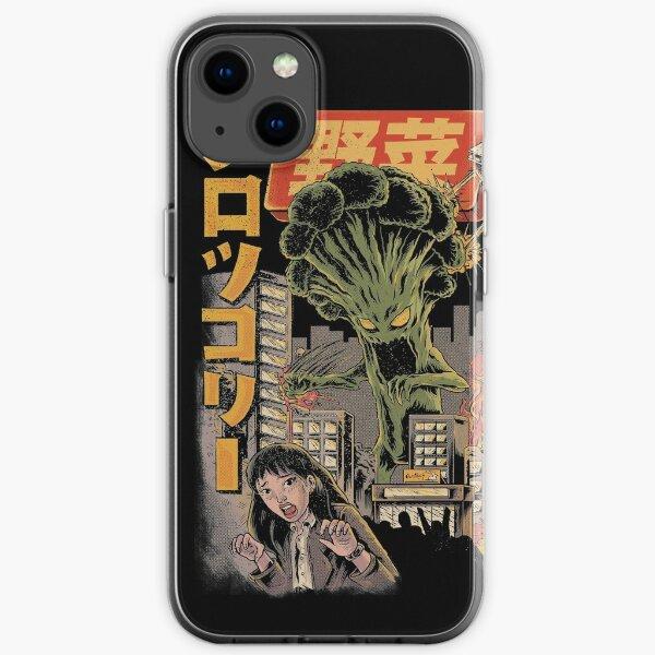 Broccozilla Black Version iPhone Soft Case