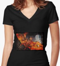 Going Batty In America Women's Fitted V-Neck T-Shirt