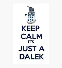 Keep Calm It's just a dalek Photographic Print