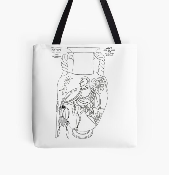 Greek Myth Comix - Olympian god Ares  All Over Print Tote Bag
