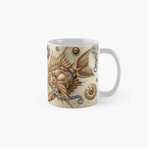Steampunk Piranha Killer Retro Machine Classic Mug