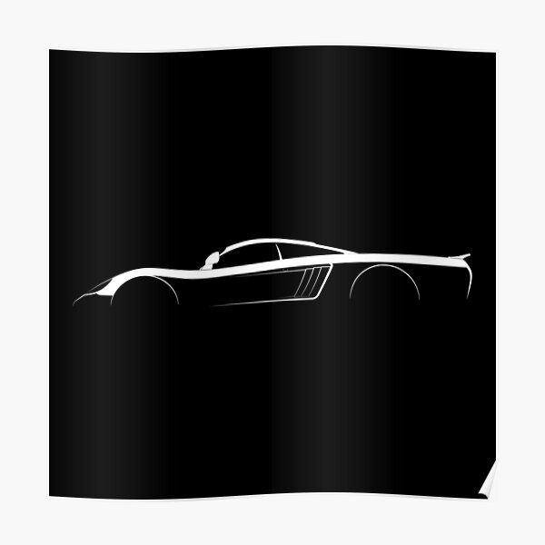 Saleen S7 Silhouette Poster