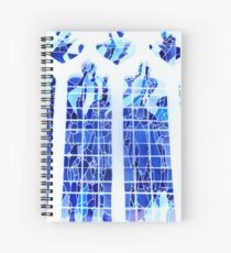 Cuaderno de espiral Blue Ice Stained Glass