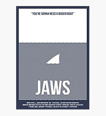 Jaws film poster Photographic Print