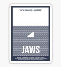Jaws film poster Sticker