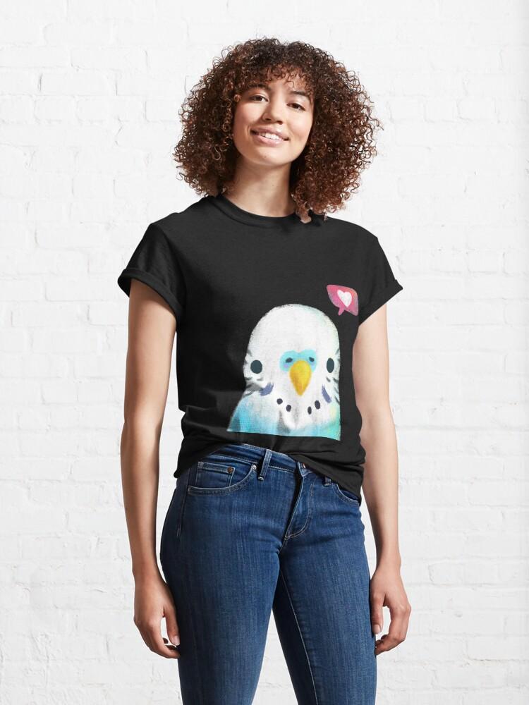 Alternate view of Budgerigar Blue Bird Classic T-Shirt