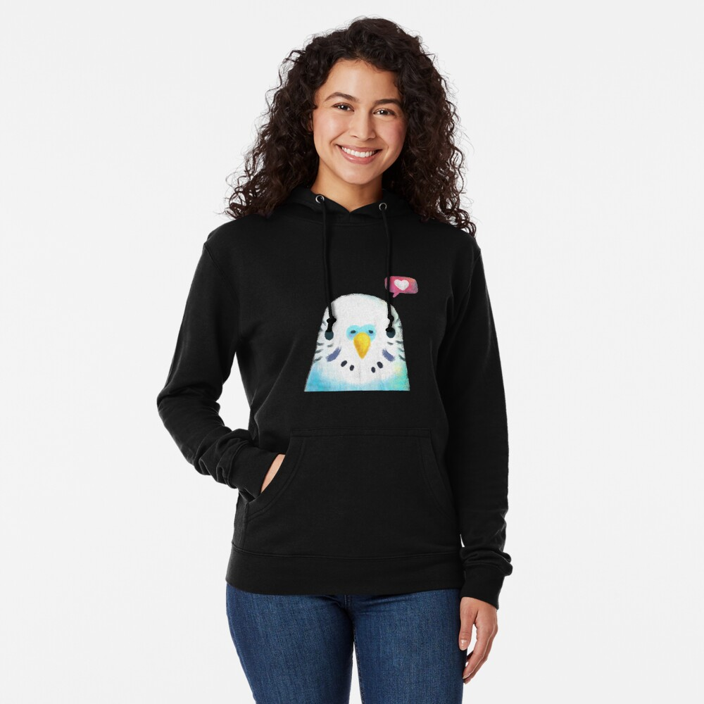 Budgerigar Blue Bird Lightweight Hoodie