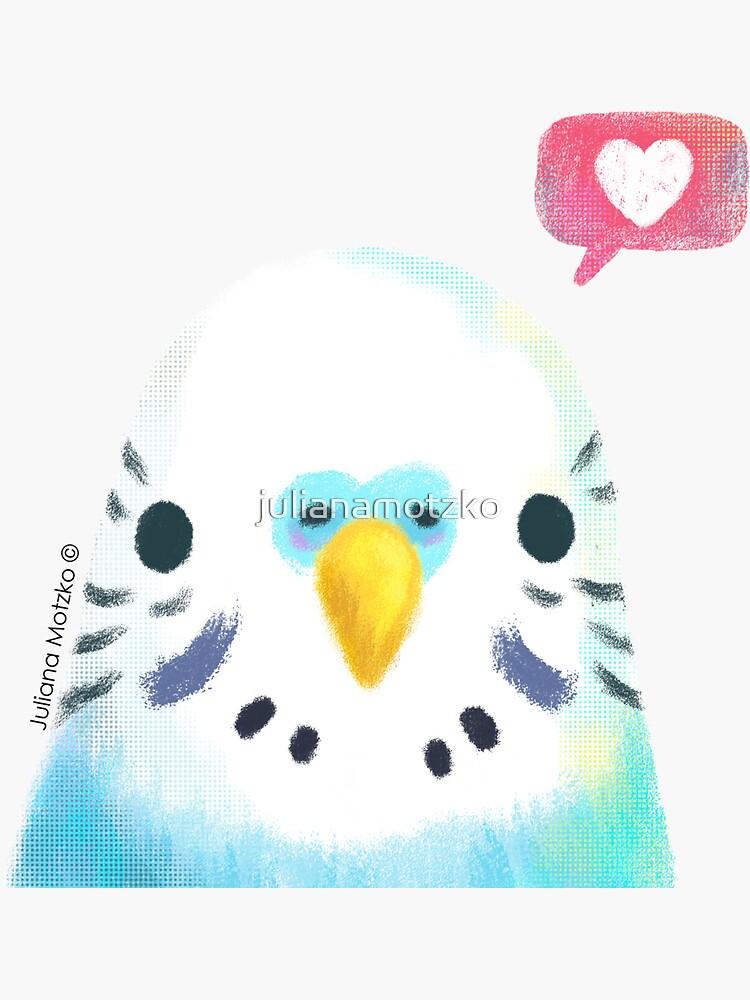 Budgerigar Blue Bird by julianamotzko