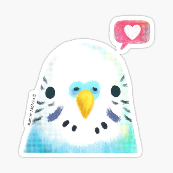 Budgerigar Blue Bird Sticker