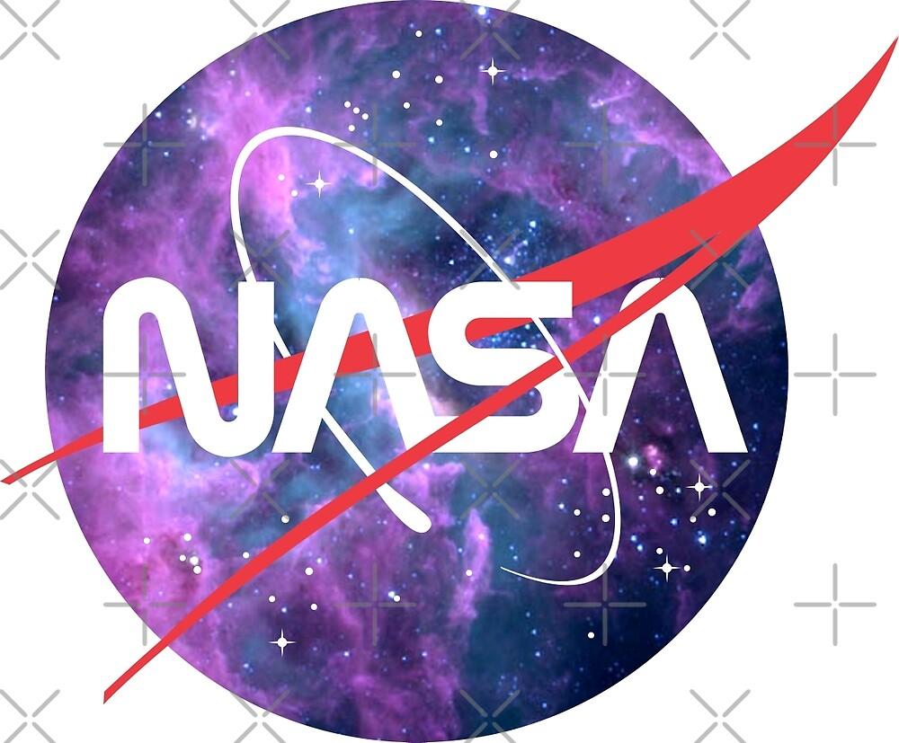 Quot Nasa Retro Nebula Logo Quot By Havran Redbubble