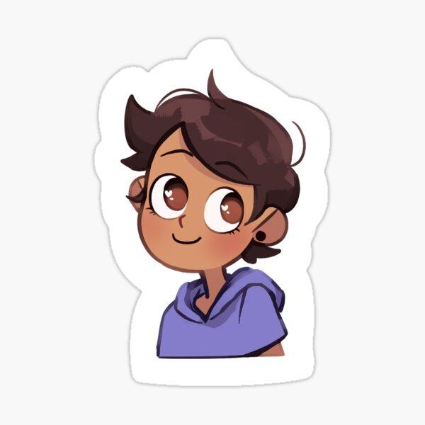 Luz smiling Sticker