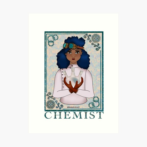 ABC's Types of Scientists: Chemist Art Print