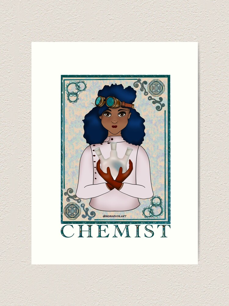 Alternate view of ABC's Types of Scientists: Chemist Art Print