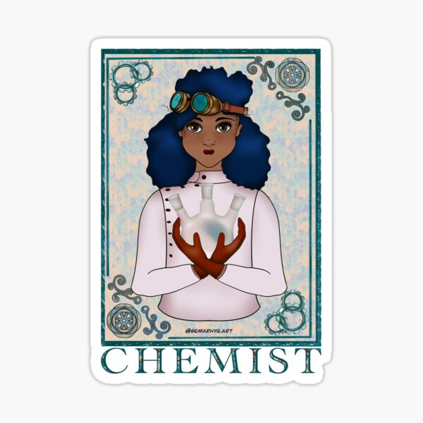 ABC's Types of Scientists: Chemist Sticker