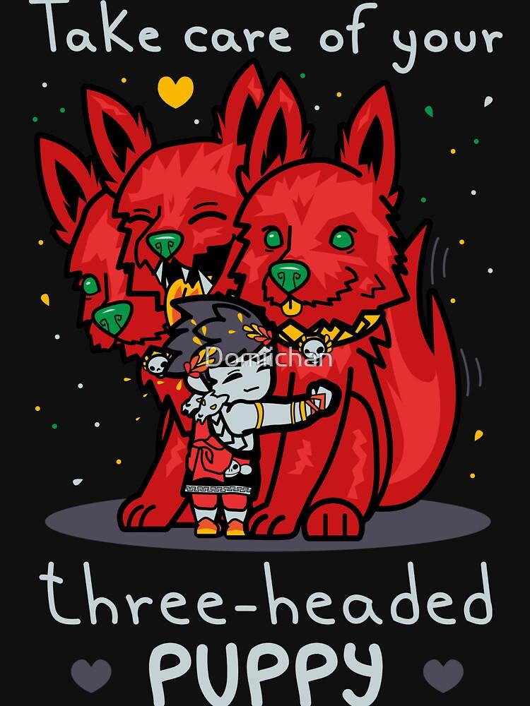 Three-headed puppy by Domiichan